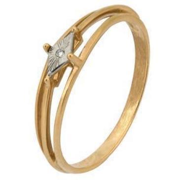 кольцо c бриллиантом из красного золота 1007101690