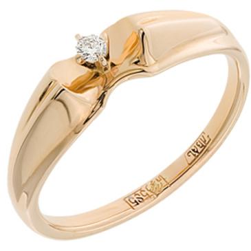 кольцо c бриллиантом из красного золота 11038073