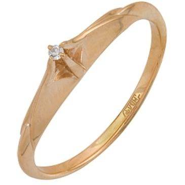 кольцо c бриллиантом из красного золота 11038172