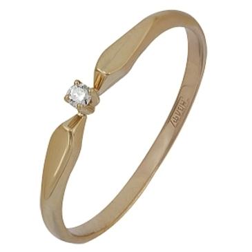 кольцо c бриллиантом из красного золота 11038514