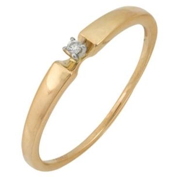 кольцо c бриллиантом из красного золота 12038012