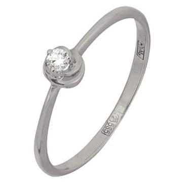 кольцо c бриллиантом из красного золота 13038289
