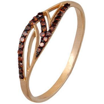 кольцо c коньячными бриллиантами из красного золота 1000202292-2-1