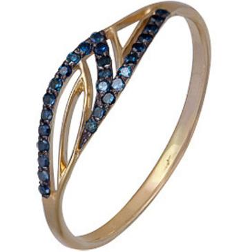 кольцо Ирида c 27 голубыми бриллиантами из красного золота 1000202292-1-1
