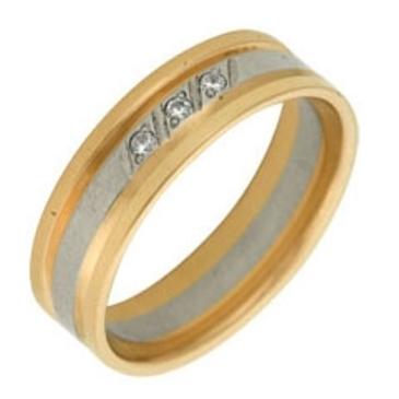 кольцо обручальное c бриллиантами из красного золота 1006808084