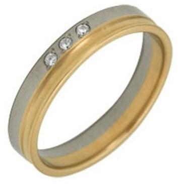 кольцо обручальное c бриллиантами из красного золота 1006808081-1