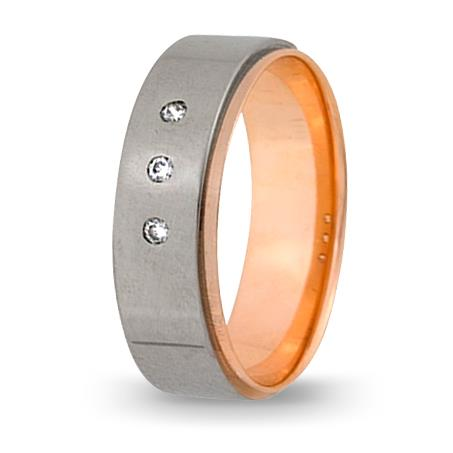 кольцо обручальное c бриллиантами из красного золота 1007108052