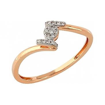 Кольцо с бриллиантами из красного золота 104951