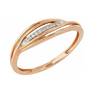 Кольцо с бриллиантами из красного золота 104962