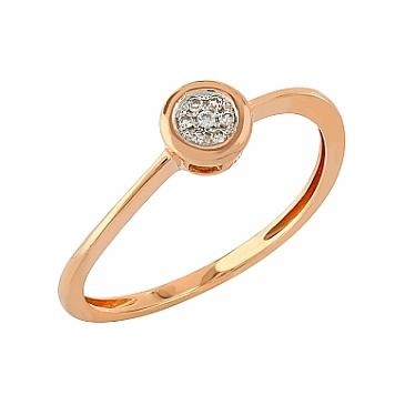 Кольцо с бриллиантами из красного золота 104939
