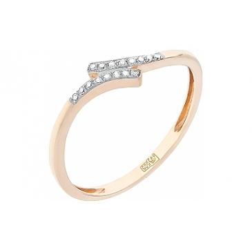 Кольцо с бриллиантами из красного золота 104935