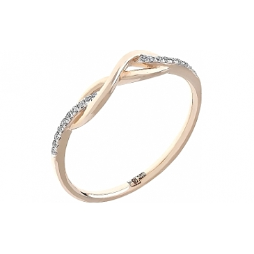 Кольцо с бриллиантами из красного золота 104957