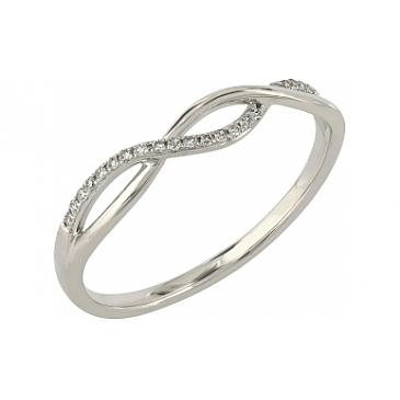 Кольцо с бриллиантами из красного золота 112783