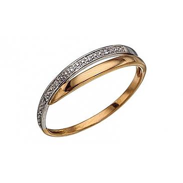 Кольцо с бриллиантами из красного золота 3620