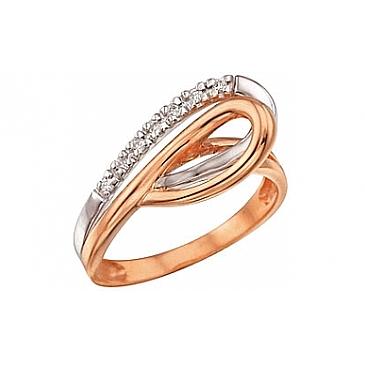Кольцо с бриллиантами из красного золота 29321