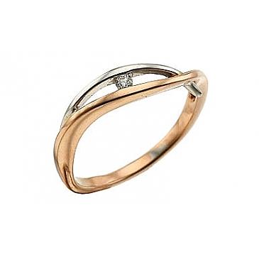 Кольцо с бриллиантами из красного золота 29325