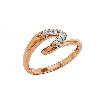 Кольцо с бриллиантами из красного золота 81894