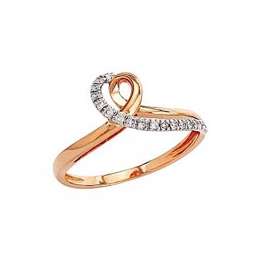 Кольцо с бриллиантами из красного золота 82237
