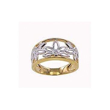 Кольцо с бриллиантами из красного золота 71428
