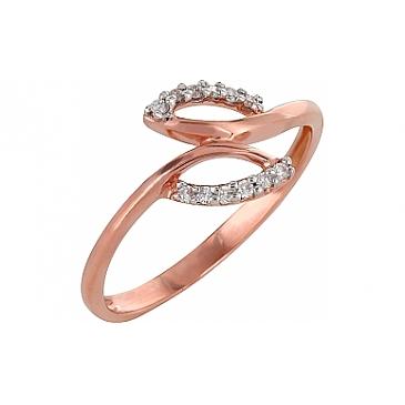Кольцо с бриллиантами из красного золота 98159