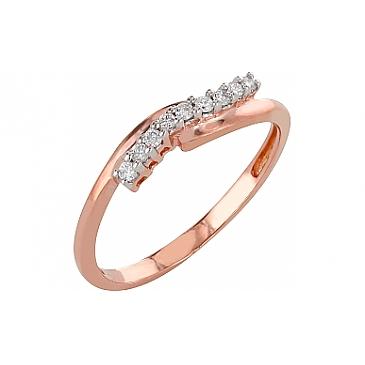 Кольцо с бриллиантами из красного золота 98164