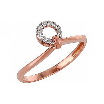 Кольцо с бриллиантами из красного золота 98161