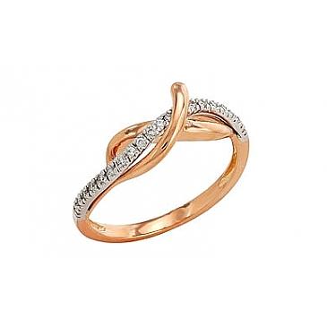 Кольцо с бриллиантами из красного золота 96298