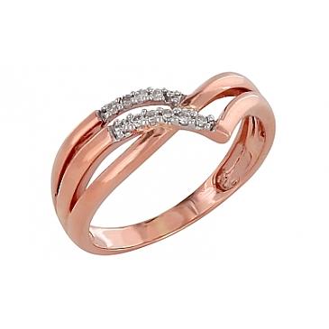 Кольцо с бриллиантами из красного золота 98658