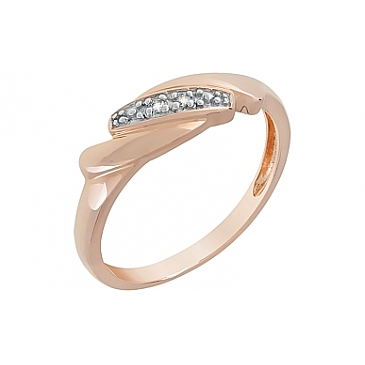 Кольцо с бриллиантами из красного золота 98665