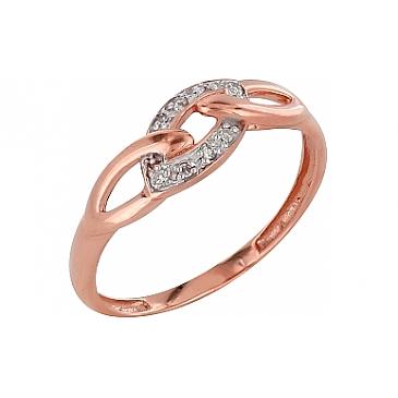 Кольцо с бриллиантами из красного золота 98666