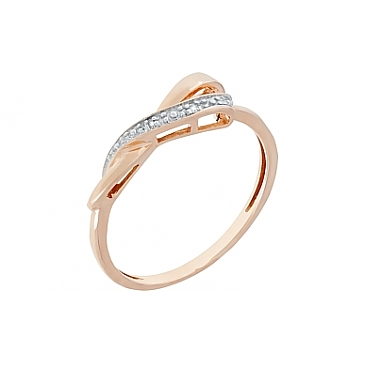 Кольцо с бриллиантами из красного золота 98667