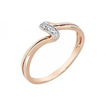 Кольцо с бриллиантами из красного золота 98668