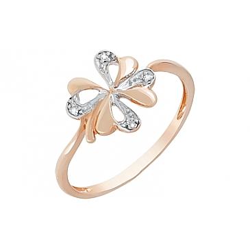 Кольцо с бриллиантами из красного золота 98672
