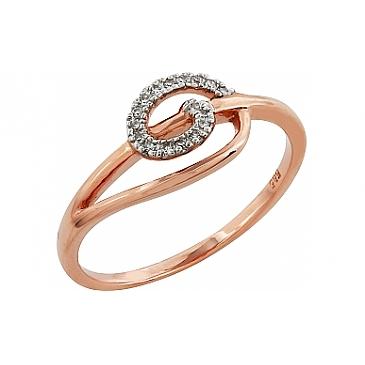 Кольцо с бриллиантами из красного золота 99013