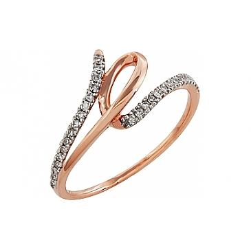 Кольцо с бриллиантами из красного золота 99015