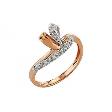 Кольцо с бриллиантами из красного золота 99217
