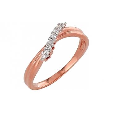Кольцо с бриллиантами из красного золота 98661