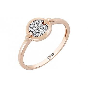 Кольцо с бриллиантом из красного золота 113853