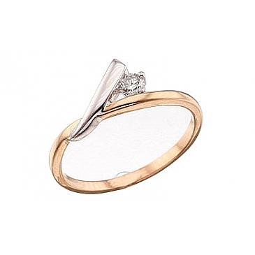 Кольцо с бриллиантом из красного золота 39442
