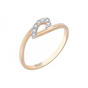 Кольцо с Бриллиантом из красного золота 76203