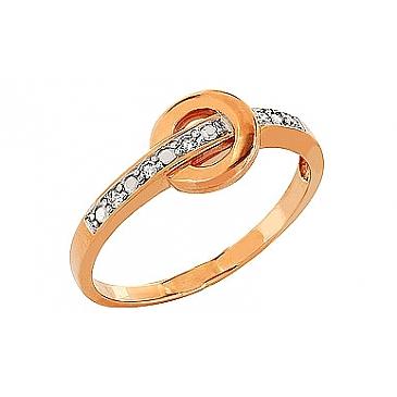 Кольцо с бриллиантом из красного золота 83728