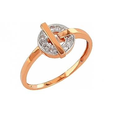 Кольцо с бриллиантом из красного золота 83726
