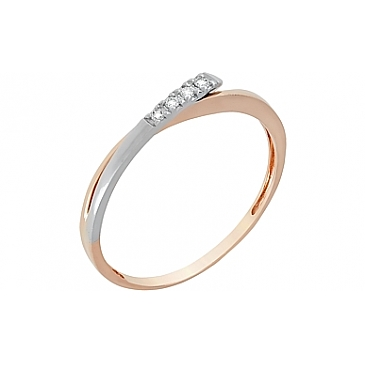 Кольцо с бриллиантом из красного золота 84971