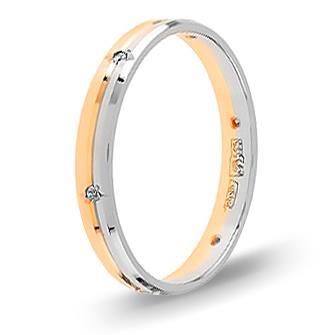 Кольцо с бриллиантом обручальное из красного золота 101521