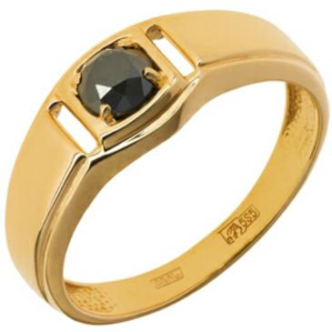 кольцо c черным бриллиантом из красного золота 11034455-1