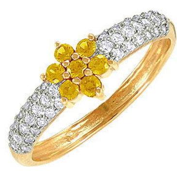 кольцо c цитринами из красного золота 11925418