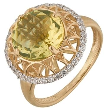 кольцо c цитринами из красного золота 1900201572