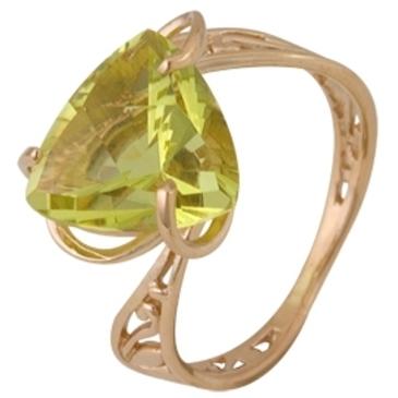 кольцо c цитрином из красного золота 1090001330