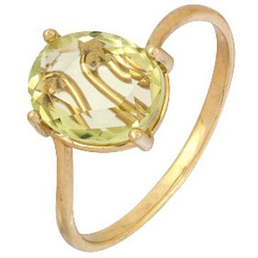 кольцо c цитрином из красного золота 1090001897