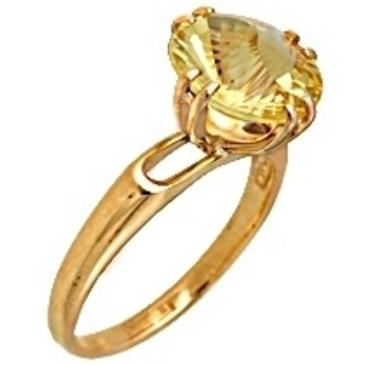 кольцо c цитрином из красного золота 1090000204